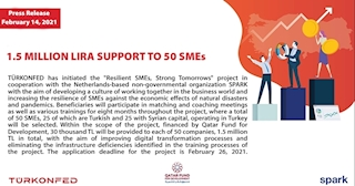 1.5 Million TL Support to 50 SMEs!