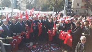 14 STK Ankara Merasim Sokak'a Karanfil Bıraktı