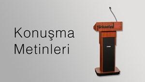 TÜRKONFED başkanı Süleyman Onatça'nın 2. Çanakkale Turizm ve Ticaret Fuarı Konuşma Metni