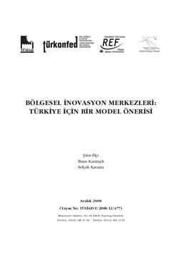 Bölgesel İnovasyon Merkezleri: Türkiye İçin Bir Model Önerisi