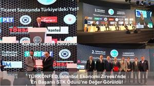 En Başarılı STK Ödülü'ne TÜRKONFED Değer Görüldü!