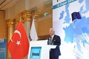 Süleyman Onatça,  TÜRKONFED 10. Olağan Genel Kurulu'nda konuştu