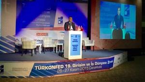 Tarkan Kadooğlu, TÜRKONFED Girişim ve İş Dünyası Zirvesi açılışında konuştu.