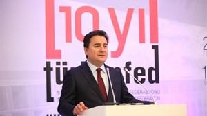 TÜRKONFED 10. Yıl Zirvesi'nde Ali Babacan bir açılış konuşması gerçekleştirdi.