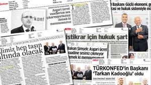 TÜRKONFED Genel Kurulu medyada geniş yer buldu