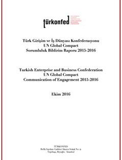 TÜRKONFED Global Compact Sorumluluk Bildirim Raporu