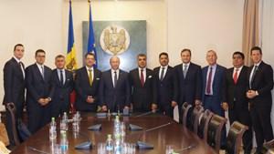 TÜRKONFED heyeti Moldova Başbakanı Strelet ile bir araya geldi.