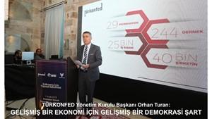 TÜRKONFED'in 'Orta Gelir ve Orta Demokrasi Tuzağı'  toplantı serisinin 5.'si Nevşehir'de düzenlendi