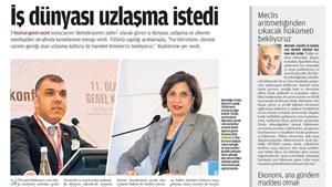 TÜRKONFED'in seçim sonrası açıklamaları medyada geniş yer buldu.