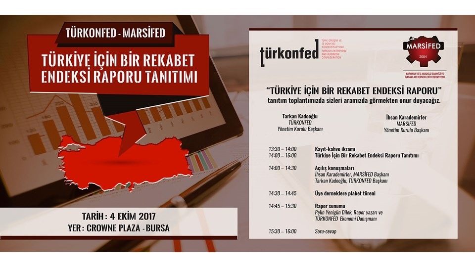 MARSİFED Ev Sahipliğinde Bursa'nın Rekabet Gücü Masaya Yatırılacak