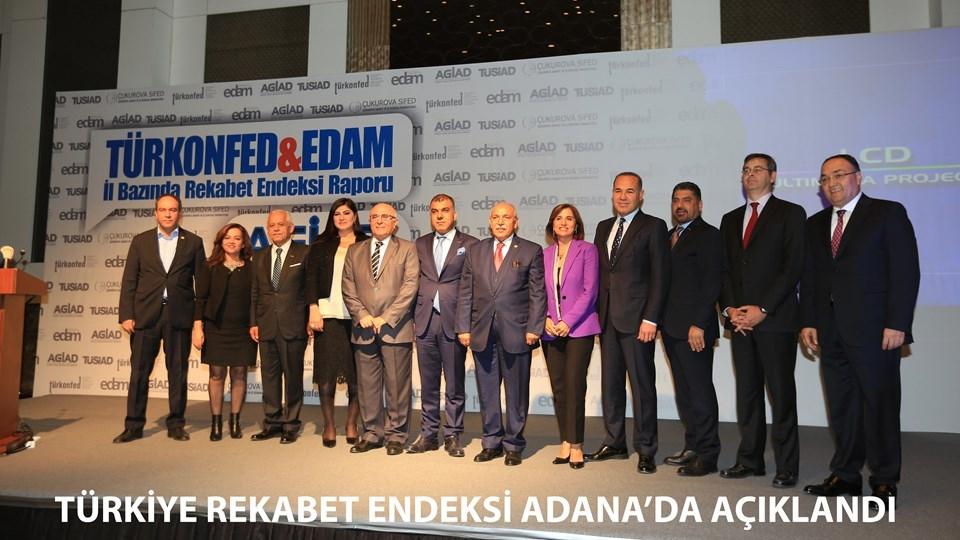 Türkiye Rekabet Endeksi Adanada Açıklandı