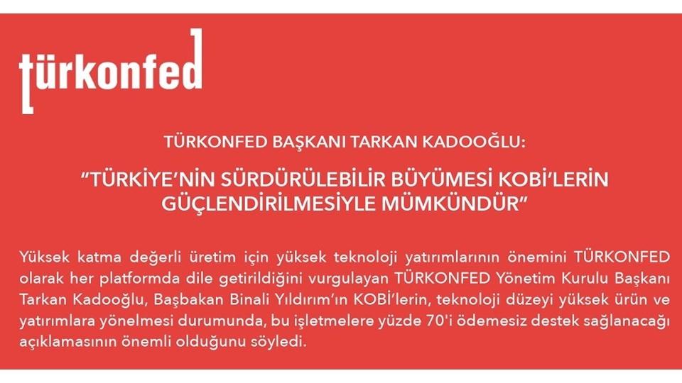 Türkiye'nin Sürdürülebilir Büyümesi KOBİ'lerin Güçlendirilmesiyle Mümkündür