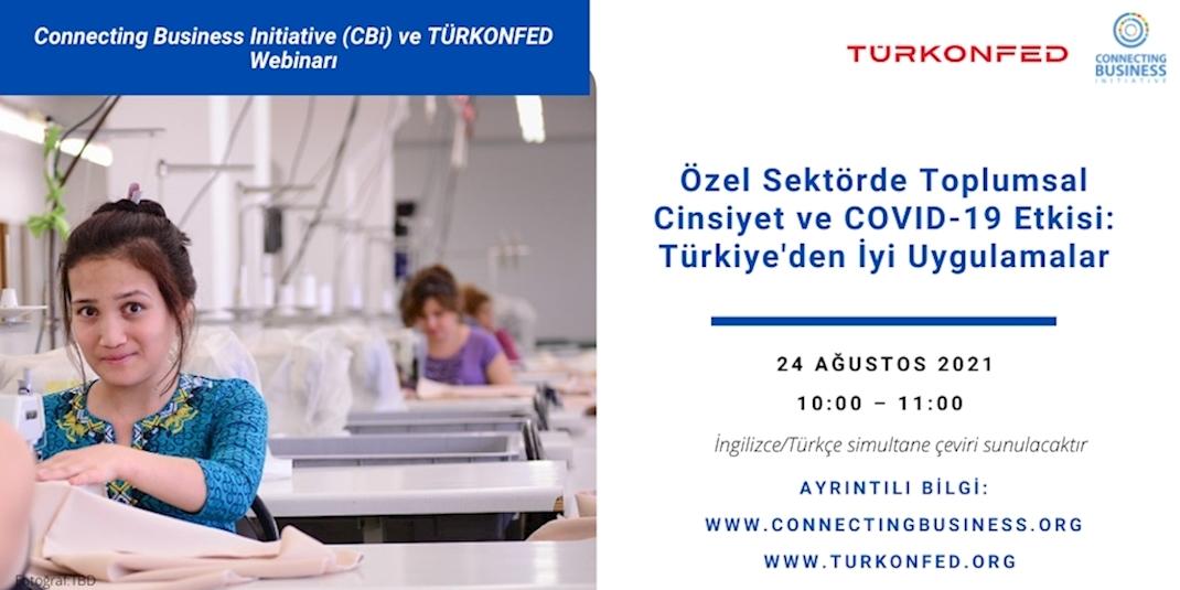 Özel Sektörde Toplumsal Cinsiyet Eşitliği ve COVID-19 Etkisi, Türkiye'deki İyi Uygulamalar Üzerinden Ele Alındı!