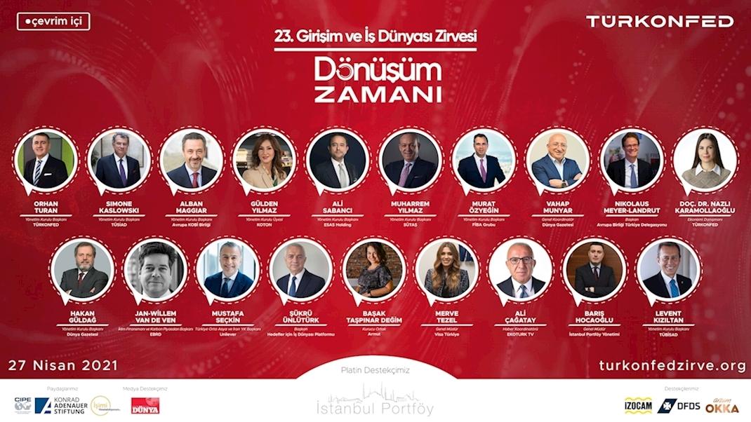 """TÜRKONFED 23. Girişim ve İş Dünyası Zirvesi'nde """"İkiz Dönüşüm"""" Masaya Yatırıldı!"""