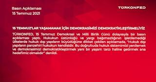 15 Temmuz'lar Yaşamamak için Demokrasimizi Demokratikleştirmeliyiz!