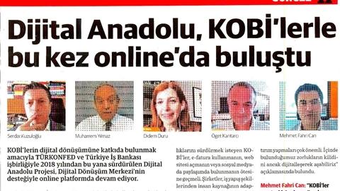 Dijital Anadolu Canlı Yayınları Basın Yansımaları-2020