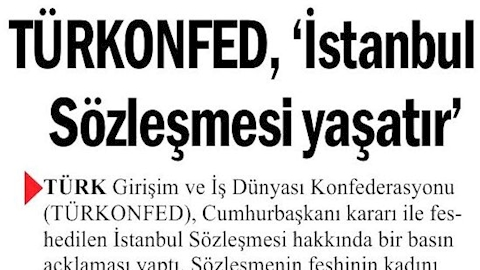 İstanbul Sözleşmesi'nin İptaline Yönelik Basın Açıklaması Basın Yansımaları - 20 Mart 2021