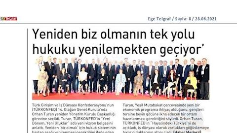 TÜRKONFED 14. Olağan Genel Kurulu Basın Yansımaları - 25 Haziran Cuma / İstanbul
