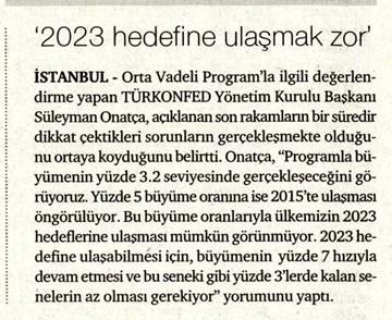''2023 Hedefine Ulaşmak Zor''