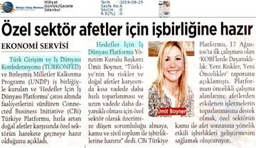"""Boyner: """"Özel Sektör Doğal Afetlerde Sorumluluk Almaya ve İşbirliğine Hazır"""" Basın Yansımaları - 23 Ağustos 2019"""