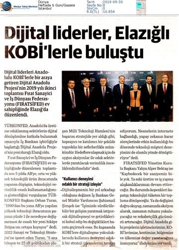 Dijital Anadolu Medya Yansımaları - 27 Eylül 2019 / Elazığ