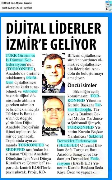 Dijital Anadolu Toplantısı Medya Yansımaları 25 Nisan 2018 / İzmir