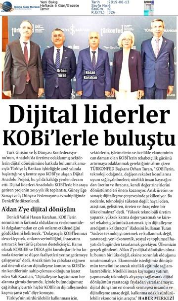 Dijital Anadolu Toplantısı Medya Yansımaları 11 Haziran 2019 / Denizli