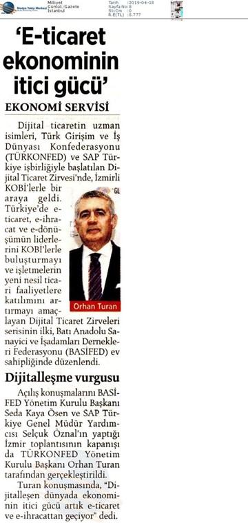 Dijital Ticaret Zirvesi Medya Yansımaları - 16 Nisan 2019 / İzmir