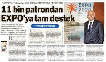 EXPO'ya Tam Destek