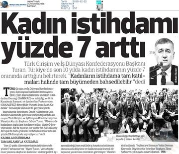 """""""Hayata İmza Atan Kadınlar"""" Toplantısı Medya Yansımaları - 21 Aralık 2018 / Samsun"""