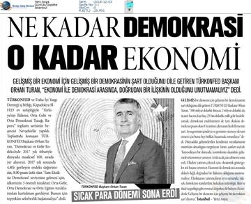 Kalkınma için Yapısal Reformlar Toplantısı Medya Yansımaları 1 Aralık 2018 / Nevşehir