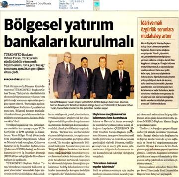 Kent-Bölge: Yerel Yönetimde Yeni Dinamikler Medya Yansımaları - 10 Mayıs /Mersin