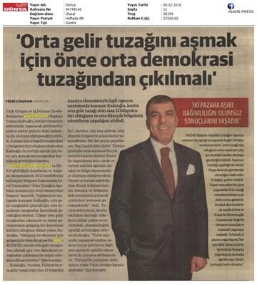 Bölgesel Kalkınmada Yerel Dinamikler: Antalya Toplantısı Basın Yansımaları
