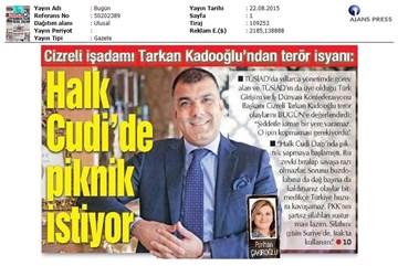 Tarkan Kadooğlu Bugün Gazetesi Röportajı