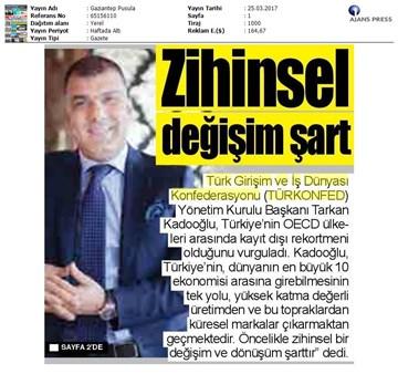 Türkiye'de Marka Olmak Çalıştayı Medya Yansımaları / 23 Mart 2017-İstanbul