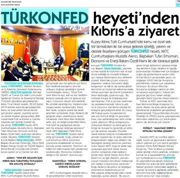TÜRKONFED Heyeti KKTC Ziyareti Medya Yansımaları 22-24 Şubat 2018 / Lefkoşa