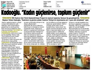 TÜRKONFED İDK Toplantısı / 28 Eylül 2016-Samsun