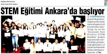 TÜRKONFED STEM Anadolu Ankara Eğitimi Medya Yansımaları 1-2 Şubat 2018 / Ankara