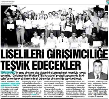 TÜRKONFED STEM Anadolu Eskişehir Eğitimi Medya Yansımaları  2-3 Şubat 2018 / Eskişehir