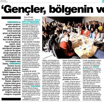 TÜRKONFED STEM Diyarbakır Eğitimi Medya Yansımaları 22 Ocak 2018 / Diyarbakır