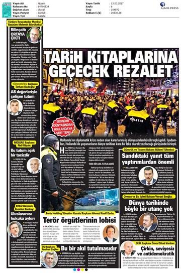 TÜRKONFED Türkiye-Hollanda Diplomatik Kriz Basın Açıklaması-Medya Yansımaları / 13 Mart 2017