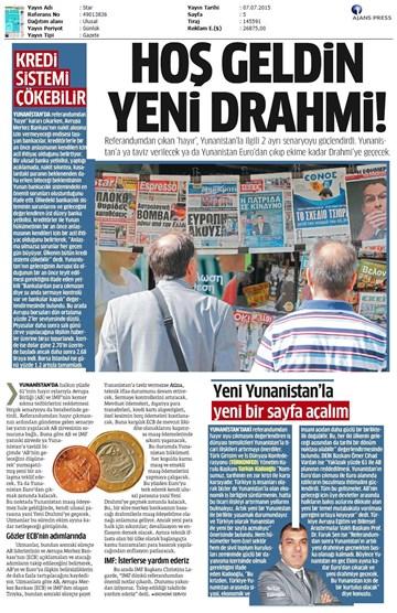 TURKONFED Yunanistan Ekonomik Krizi Açıklaması Yansımaları