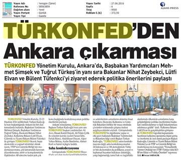 TÜRKONFED'den Ankara Çıkartması