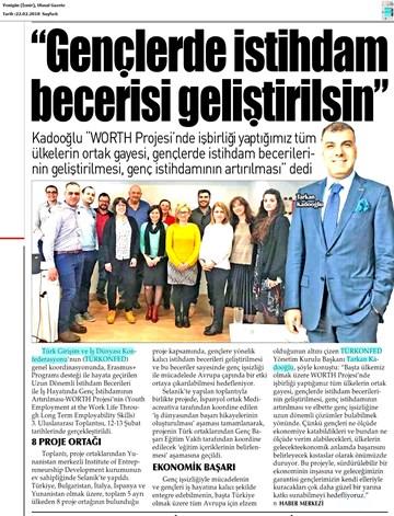 Worth Projesi 3. Uluslararası Toplantısı Medya Yansımaları 21 Şubat 2018 / Selanik