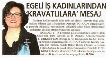 Temmuz 2012 & TÜRKONFED ve  Kadın