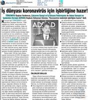 TÜRKONFED Coronavirüs Basın Açıklaması Medya Yansımaları- 16 Mart 2020