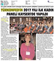 TÜRKONFED İDK Kadının Çok Yönlü Güçlendirilmesi Projesi Kayseri Toplantısı Medya Yansımaları-2 / 8 Nisan 2017