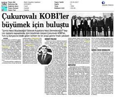 TÜRKONFED-TÜSİAD BORGİP Mersin Toplantısı Basın Yansımaları (1) / 28 Mart 2017