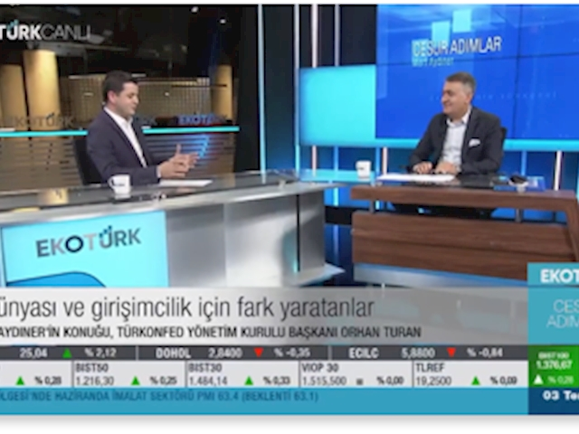 TÜRKONFED Yönetim Kurulu Başkanı Orhan Turan - EKOTÜRK TV Cesur Adımlar Programı /3 Temmuz 2021