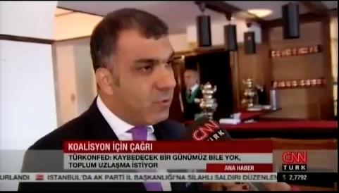 TÜRKONFED Basın Yansıması -CNN Türk Ana Haber - 9 Ağustos 2015